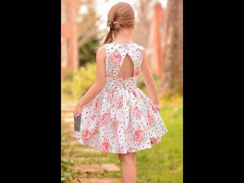 فستان العيد للأطفال فستان واسع بسبعة في الخلف هوايتي Youtube Graduation Dress Dresses Fashion