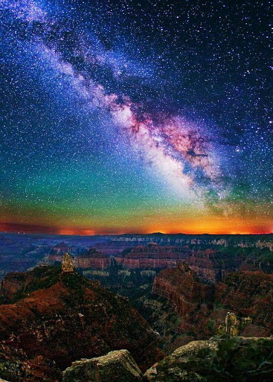 Imperial Point Milky Way Grand Canyon National Park #ARIZONA #USA