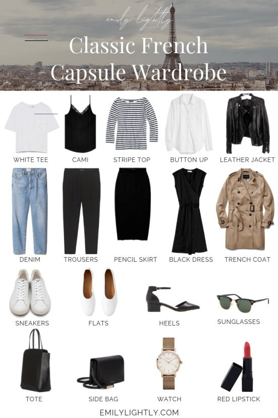 The Classic French Capsule Wardrobe #frenchgirlstyle The