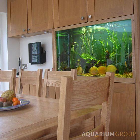 Custom Integrated Kitchen Fish Tank From Aquarium Group