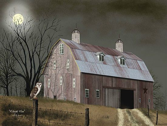 ART PRINT, FRAMED OR PLAQUE - BY BILLY JACOBS - MIDNIGHT MOON - BJ1042A