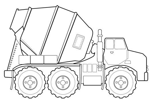 Detailed Cement Truck Mixer Coloring Book Truck Coloring Pages Coloring Pages Horse Coloring Pages