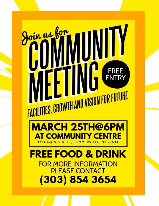 Meeting Flyers Templates Monte Poster Desain Corona