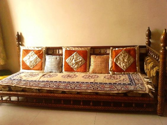 Indian living room and low seating ideas feel indian for Indian ethnic living room designs