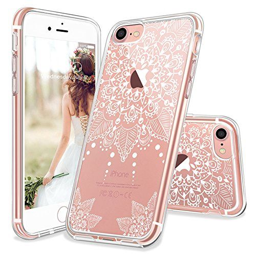 iPhone 7 Case, iPhone 7 Clear Case, MOSNOVO White Henna M... https ...