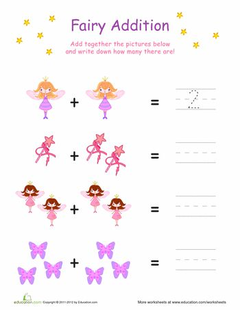 Add a little magic to math practice with these fairy addition ...