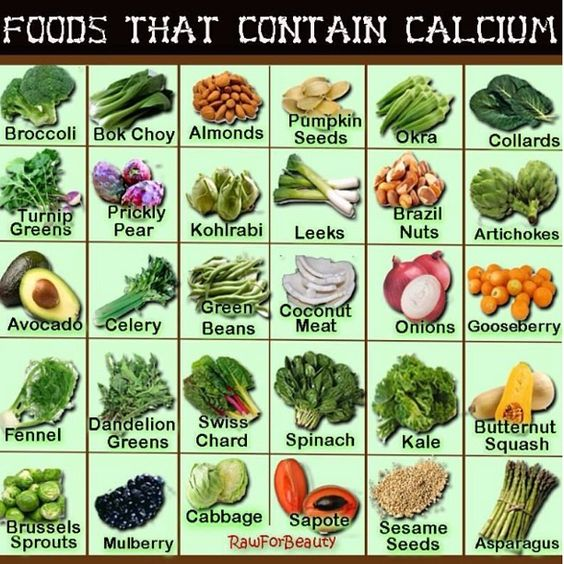 No milk? No problem. Here are some amazing foods that contain lots of calcium.  #calcium #vegan #healthy #greens