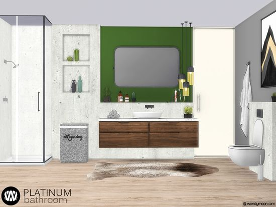 Platinum Bathroom Have Fun Found In Tsr Category Sims 4 Bathroom Sets Bathroom Sets Sims 4 Sims
