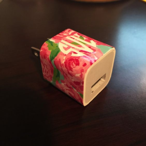 Lilly Pulitzer Inspired Phone Charger Monogram