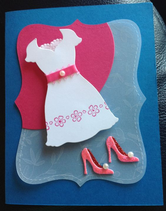 Simple - Stampin Up card using Dress Up framelits