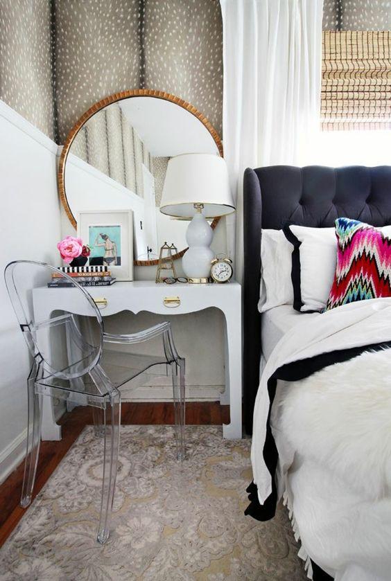 jolie coiffeuse avec miroir 40 id es pour choisir la meilleure coiffeurs mur et chambre. Black Bedroom Furniture Sets. Home Design Ideas