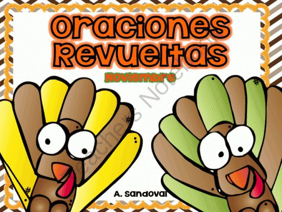 Scrambled Sentences NOVEMBER in SPANISH from Angelica Sandoval on TeachersNotebook.com -  (30 pages)  - 2 options for this unit It includes: Individual student sheets for independent practice Students will unscramble sentences by cutting and gluing them in order on printable sheets.  Also includes color