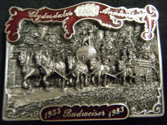 Vintage 19331983 Budweiser  Clydesdales 50th by BeltBuckleQueen, $39.00