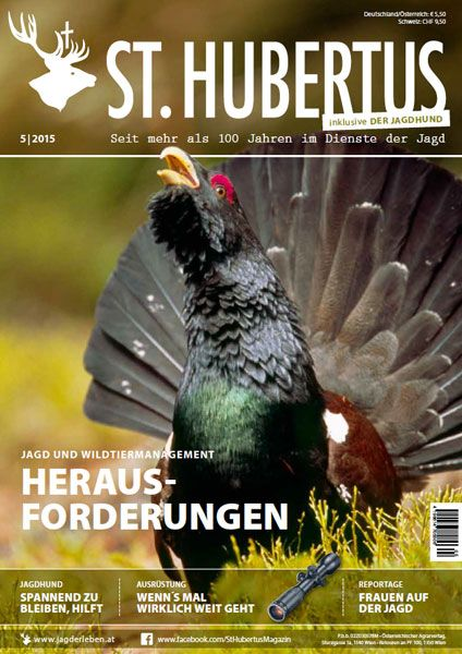 http://www.jagderleben.de/st-hubertus/heftvorschau  Jagd, Wild, Wildtier, Auerhahn, Rauhfußhühner, Forstwirtschaft