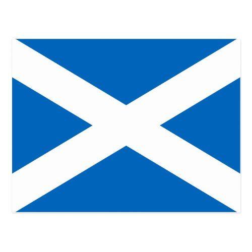 Scottish Flag Of Scotland Saint Andrew S Cross Sal Postcard Zazzle Com Flag Of Scotland Scotland Flag