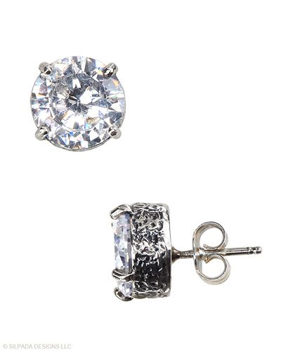 Add the finishing touch to both casual and formal finery by choosing these #SterlingSilver and #CubicZirconia #Earrings. #Silpada #Sparkle:
