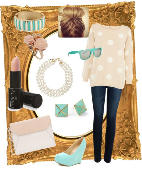 """""""pop of teal."""" by mbitton ❤ liked on Polyvore"""