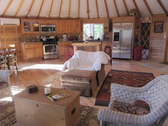 Yurts Yurt Living And Luxury Yurt On Pinterest