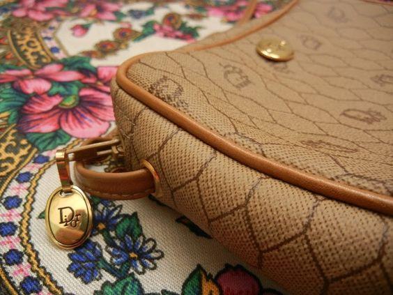 L'oiseau Acessórios Vintage: Bolsa Dior Vintage Anos 70/80