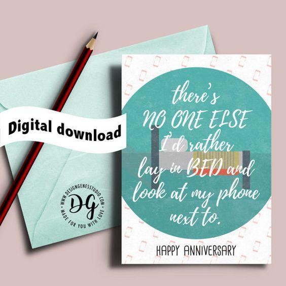 Printable anniversary card card for husband card for him lay in – Printable Anniversary Cards for Husband