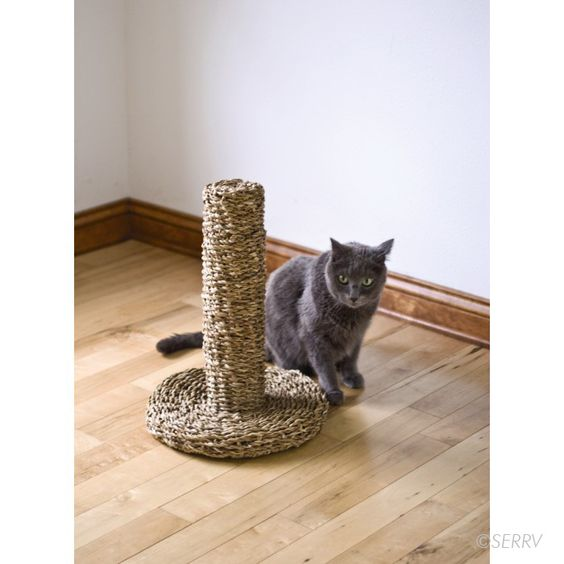 SERRV - Fair Trade Cat Scratching Post from Dhaka Handicrafts, a non-profit organization which assists artisans in Bangladesh to attain self-sufficiency. Dhaka works with 42 groups in different parts of Bangladesh and has created employment for 1,800 families, with over 10,800 beneficiaries.