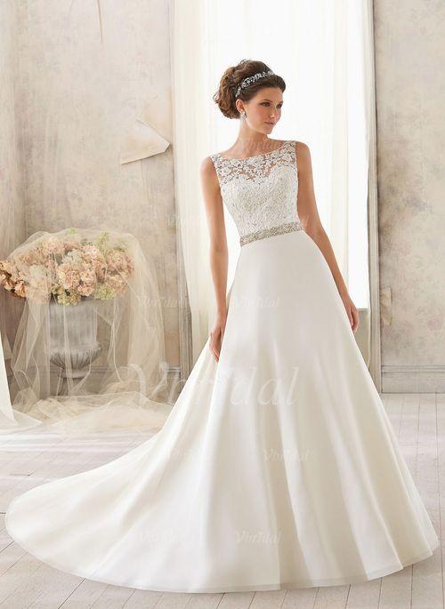 Wedding Dresses - $193.52 - A-Line/Princess Scoop Neck Court Train ...