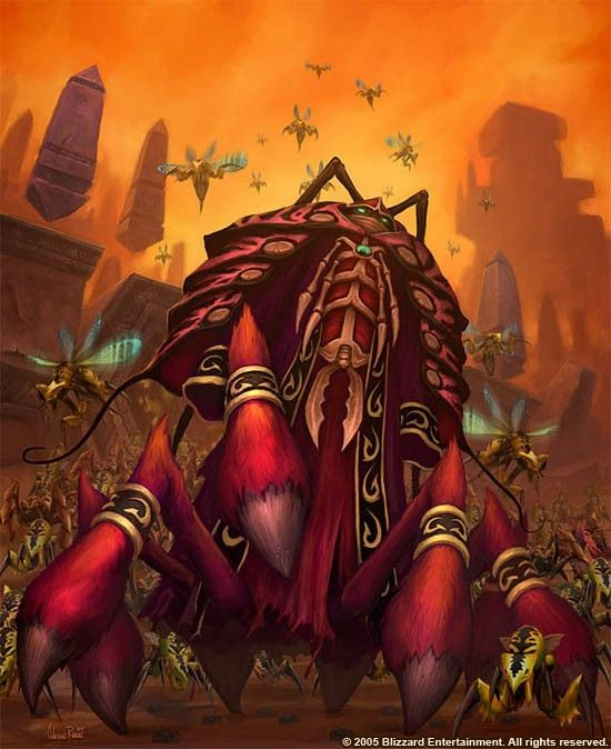 Qiraji Warcraft Art Fantasy Creatures Illustration