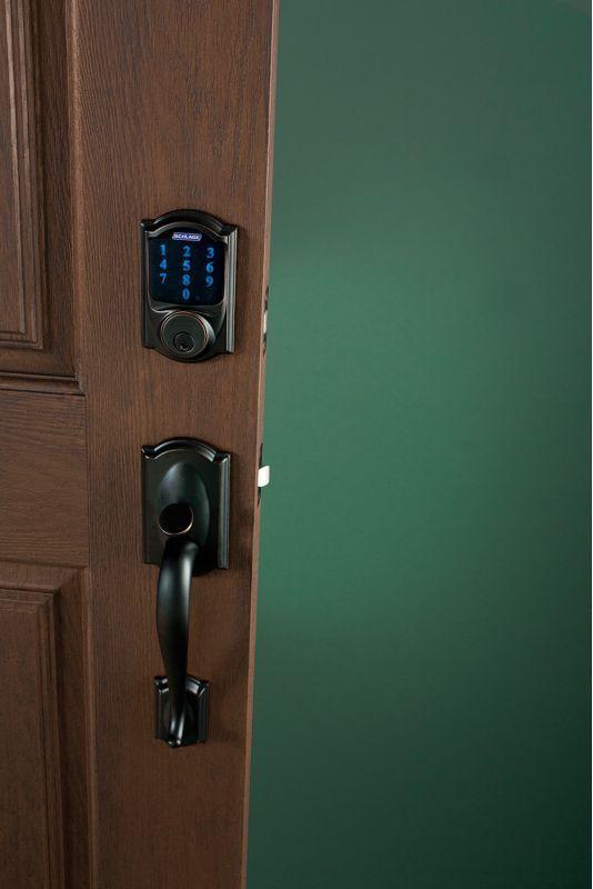 Our New Schlage Bluetooth Smart Door Lock Smart Door Locks Front Door Locks Door Locks