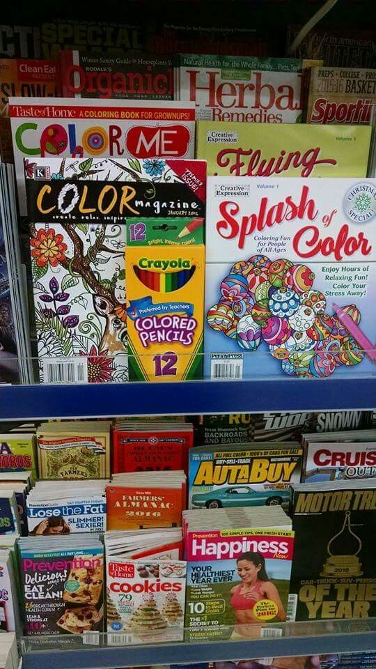 Coloring Books For Adults Merchandised With Colored Pencils Walgreens 3 November 2015