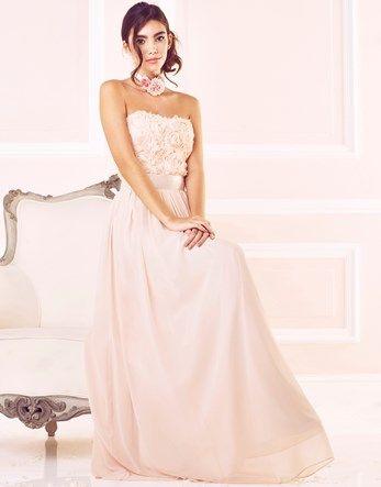 Zibi London Rose Applique Maxi Dress