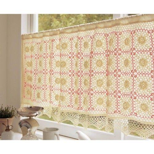 Crochet motif, Crochet and Curtains on Pinterest