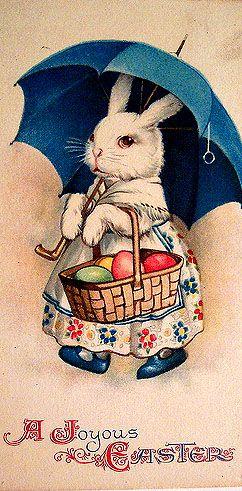 Vintage Easter postcard.: