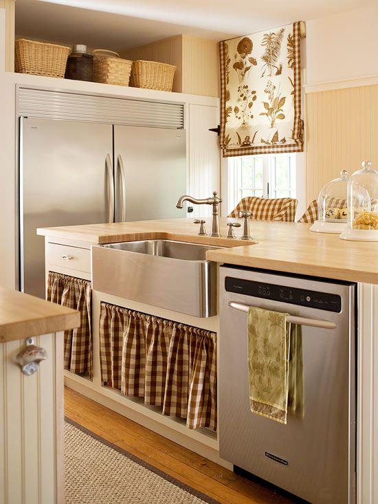 kitchen decor | Kitchen | Pinterest | Faldas, Vitrinas y Fregaderos ...