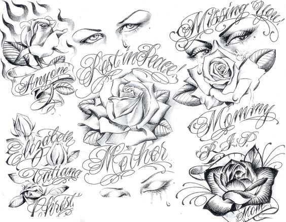 art gangster tattoo designs tattoo flash by boog 191 chicano. Black Bedroom Furniture Sets. Home Design Ideas