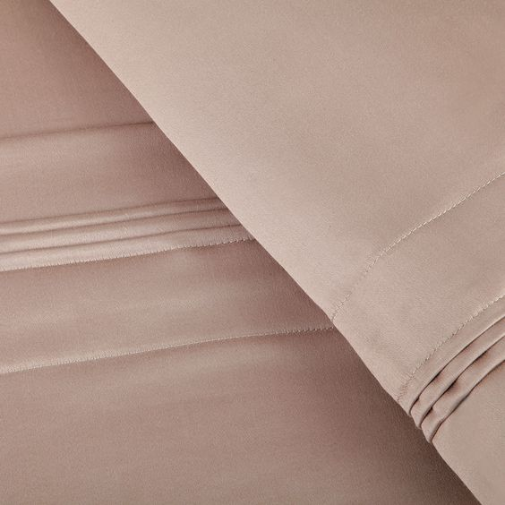 The 1,500 Thread Count Sheet Set - These mercerized Egyptian cotton sateen sheets are the most luxurious available because they have 1,500 threads per square inch for a noticeably smooth hand, an elegant drape, and a lustrous finish. The sheets are woven from 1,500 threads of the finest quality one-ply yarn from Egyptian cotton fibers, which are 30% longer than other cotton varieties, resulting in cloth that is more durable, more colorfast, smoother, and more comfortable.