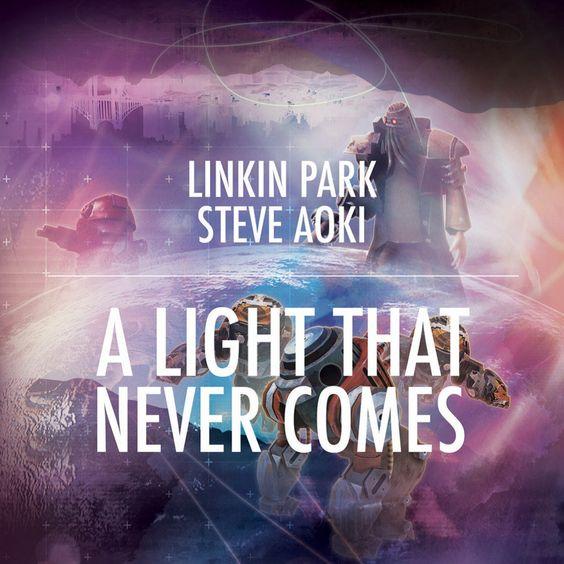 Linkin Park, Steve Aoki – A Light That Never Comes (single cover art)