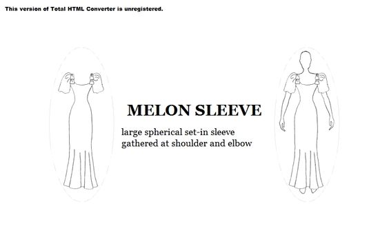 Melon Sleeve Fashion Dictionary 10 Sleeves Pinterest