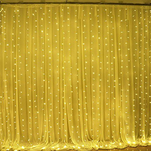Ucharge Led Curtain Icicle Lights 600led 19 8x9 8 Feet 9 Https Www Amazon Com Dp B072jt2lft Ref Cm Sw Fairy Lights Wedding Wedding Lights Curtain Lights