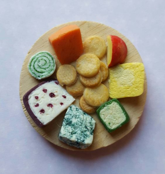 Refrigerator magnet, miniature cheese board, food fridge magnets,  kitchen decoration by MagentaMinis on Etsy