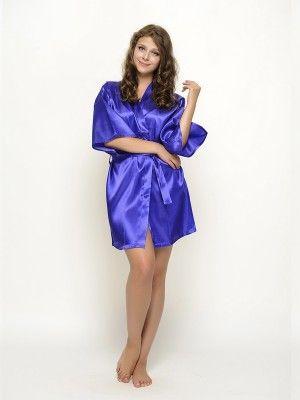 Satin Robes Royal Blue Bridesmaid Robes Bride Robes
