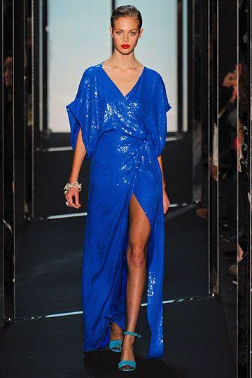 Oh my gosh, that shade of blue! Stunning. At Diane Von Furstenberg. #fall2011 #fashion #dvf