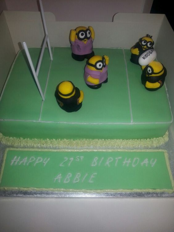 Cake Decorating Equipment Uk : Minion Rugby Cake - For all your cake decorating supplies ...