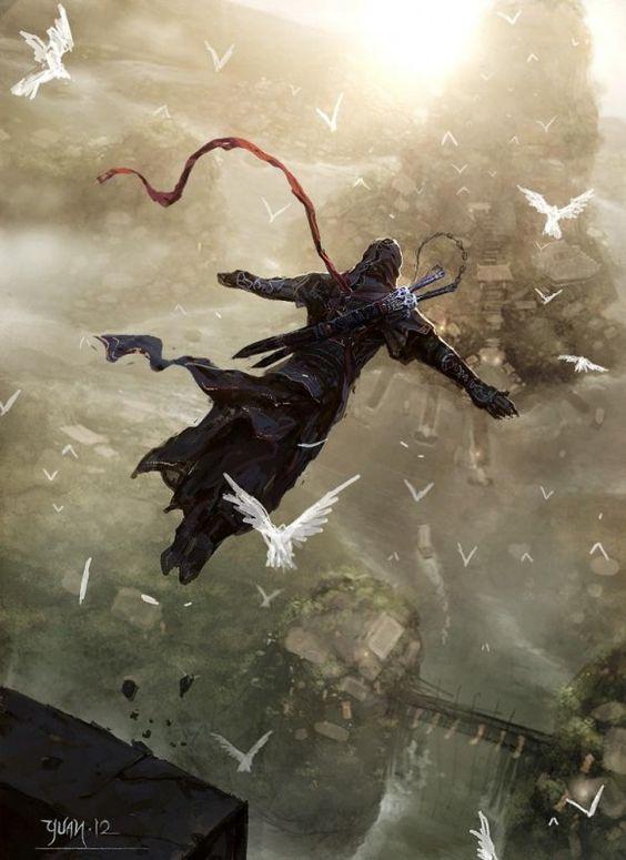 Incrível arte de Assassins Creed no estilo Chinês