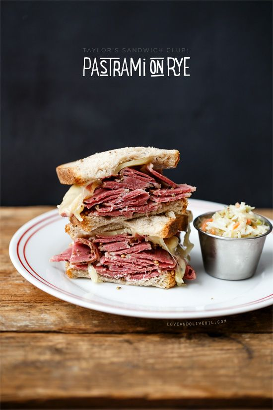 Pastrami on Rye Sandwiches from @Lindsay Landis | Love and Olive Oil