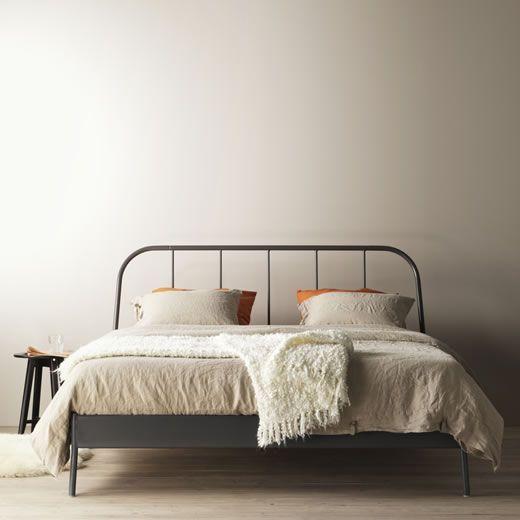Kupferbett In 2020 Schlafzimmer Inspirationen Metallbett Ikea