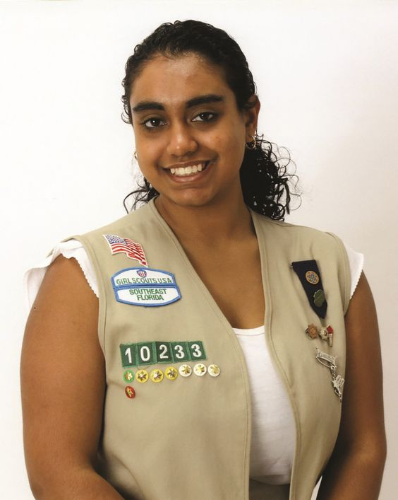 """#GirlScout Vidya - With the growth of technology and the importance of being connected, Vidya's Gold Award project, """"Focus on Abilities,"""" taught internet safety to those who are differently-abled. Not only did Vidya partner with AHRC Nassau to ensure she had the necessary skills to work with her target audience, she then educated her peers on how to work with those who have varying abilities. #goldaward #gsnc"""
