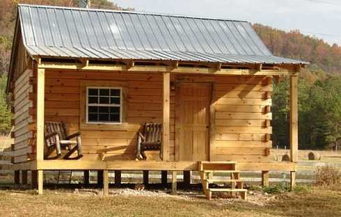 Standout Hunting Cabins Right On Target Hunting Cabin Small Log Cabin Cabins And Cottages