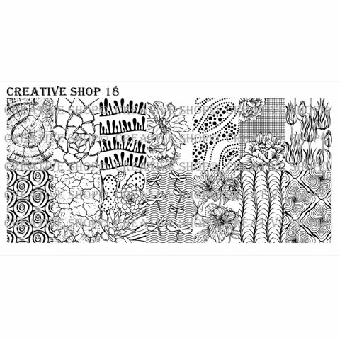 Creative Shop- Stamping Plate- 18