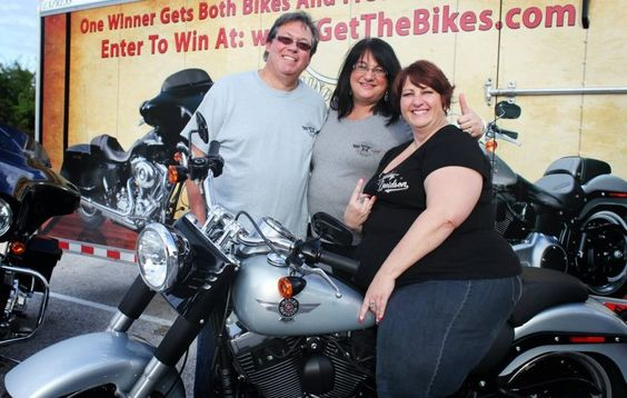 2011 Harleys for Heroes winner, Valerie Snider, with founding directors of Healing Heroes Network.