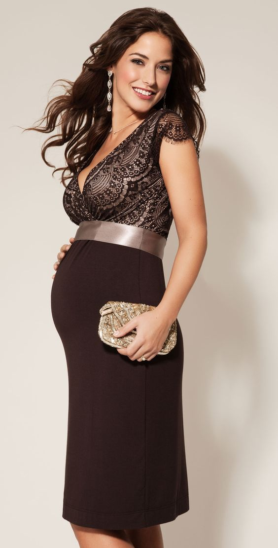 Rosa Maternity Dress Mocha - Maternity Wedding Dresses, Evening Wear and Party Clothes by Tiffany Rose